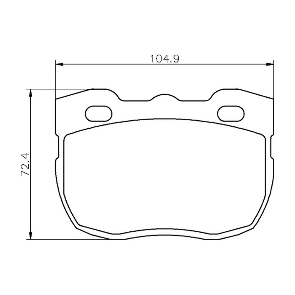 Mintex Racing Brake Pads MLB115-M1144 Pour Land Rover