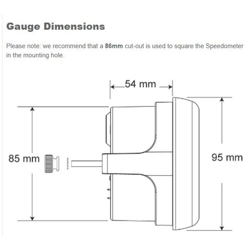 compteur de vitesse gps stack mph avec visage noir st3803. Black Bedroom Furniture Sets. Home Design Ideas