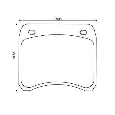 mintex racing brake pads mlb19 m1155 pour rover formule ford avec ap lockheed triers de. Black Bedroom Furniture Sets. Home Design Ideas